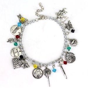 New! Women's Game of Thrones Charm Bracelet